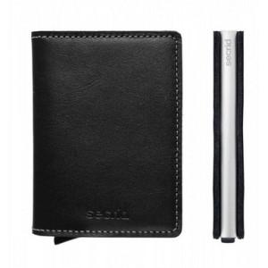 slim wallet zwart